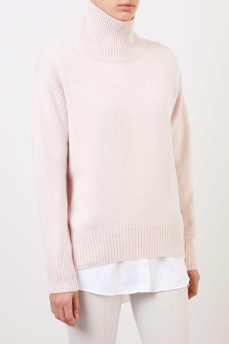 Allude Cashmere-Pullover mit Turtleneck Rosé