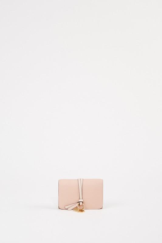 Chloé Leder-Portemonnaie 'Alphabet Small' Blush Nude