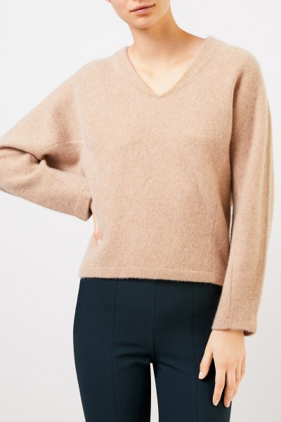 Vince Cashmere Sweater with V-Neck Beige