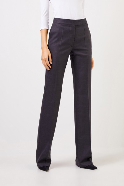 Stella McCartney Wool trousers with structure Anthracite