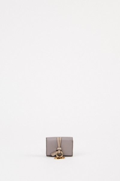"Mini wallet ""Alphabet Coins' Cashmere Grey"