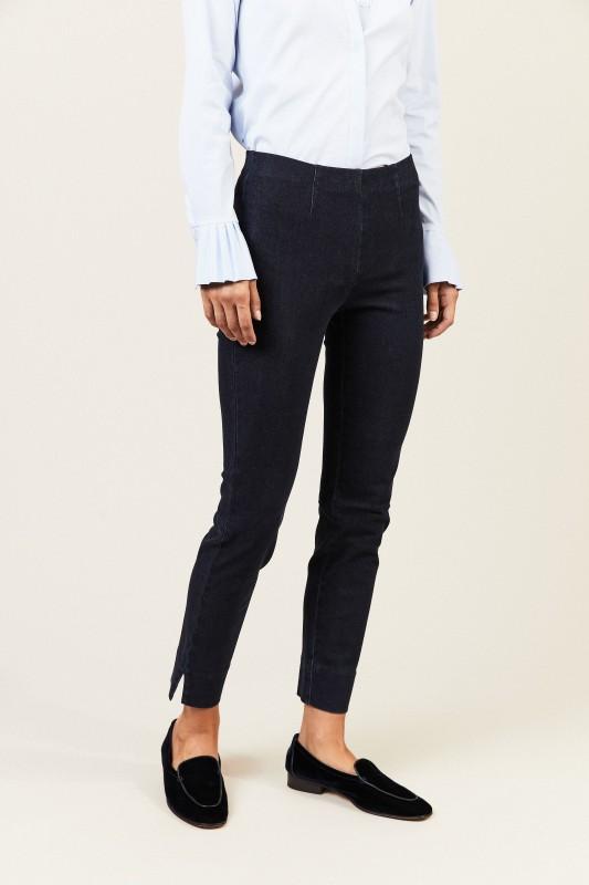 Stretch-Hose in Jeansoptik 'Sabrina' Marineblau