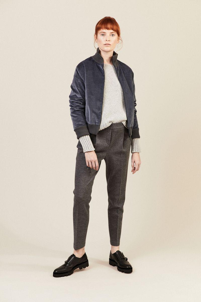 Cropped-Pullover Grau