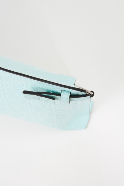 Loewe Clutch 'Pouch Repeat' with logo Mint