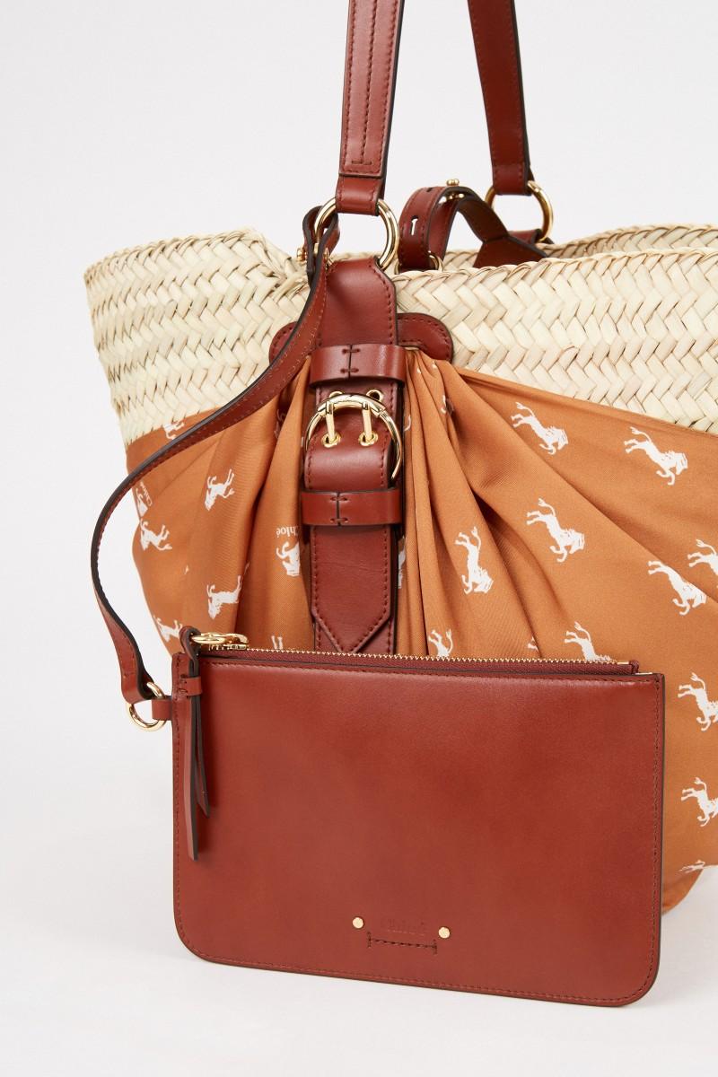 Chloé Korb-Tasche mit Tuch-Detail Multi