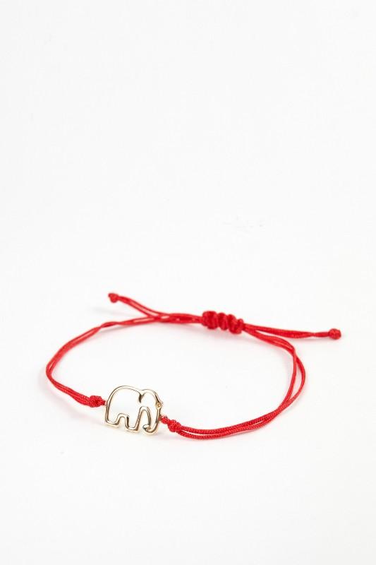 Yvonne Leon Armband mit Elefant Rot/Gold
