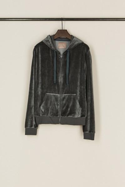 Sweatshirt mit Kapuze 'Vinni' Dunkelgrau