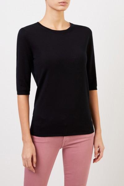 Iris von Arnim Short sleeve cashmere pullover 'Lyv' Black