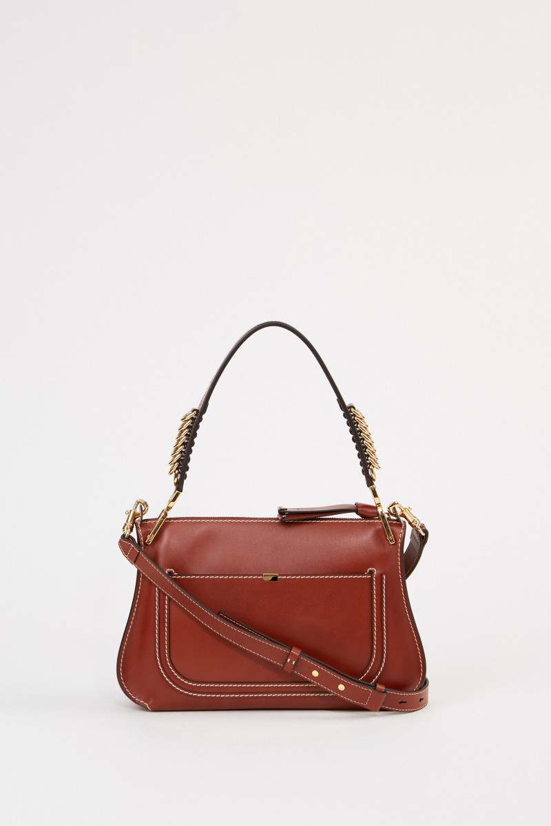 Chloé Shoulder bag 'Marcie Shoulder' Sepia Brown