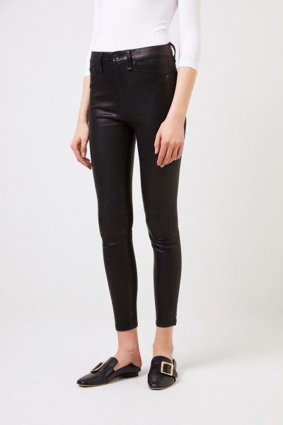 Rag&Bone Highrise leather pants Black