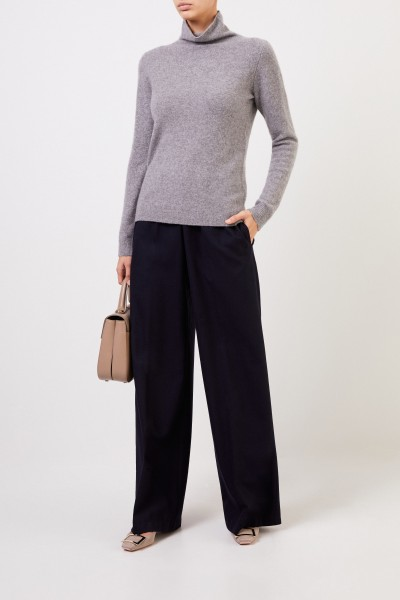 Cashmere-Sweater turtleneck in Grey