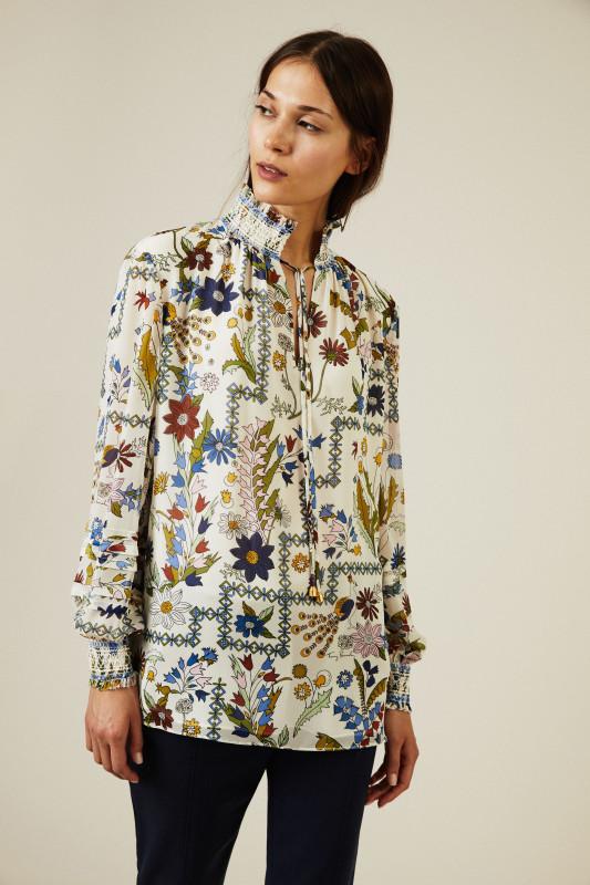 Seidenbluse 'Haley' mit floralem Print Multi