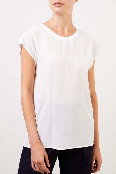 Robert Friedman Silk top with back neckline White