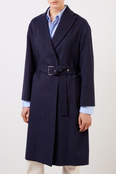 Brunello Cucinelli Langer Woll-Cashmere-Mantel Marineblau