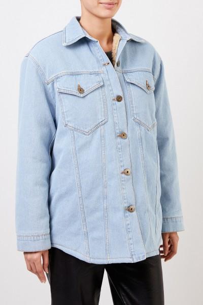 Nanushka Lined denim jacket 'Nusta' Light Blue