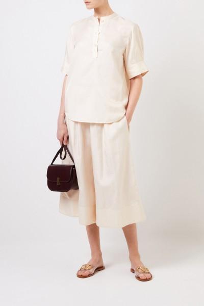 Cotton-silk-blouse 'Jay' Cream