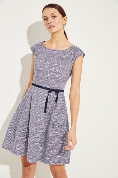 Baumwoll-Kleid mit Print Blau/Multi