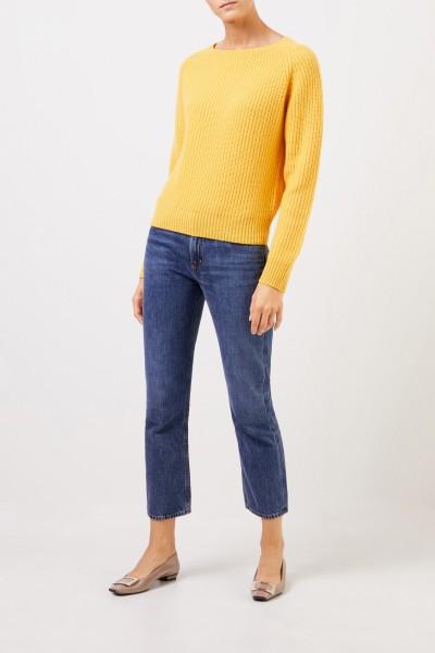Uzwei Rippstrick-Cashmere-Pullover Gelb