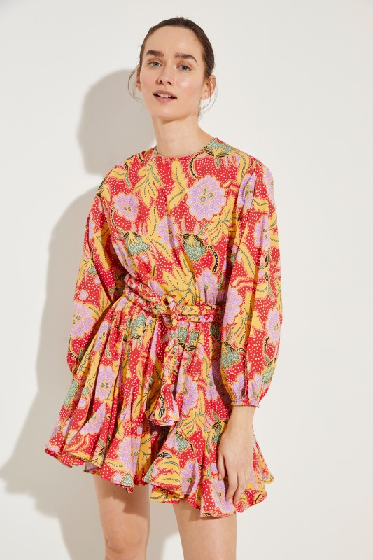 Kleid 'Ella' mit Print Rot/Multi