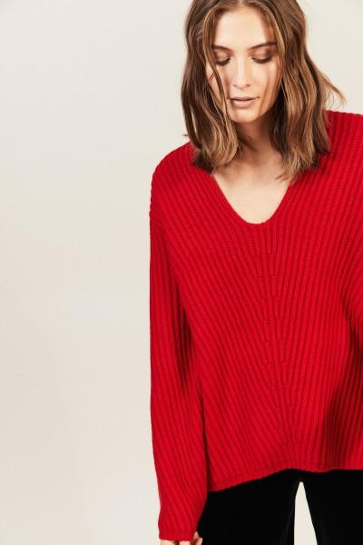 Oversize Woll-Pullover 'Deborah' Rot