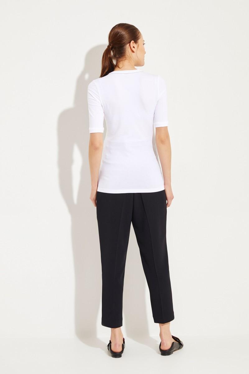 Baumwoll-Shirt Weiß