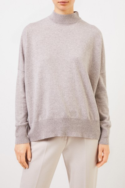 Colombo Cashmere Sweater with Turtleneck Taupe Melange
