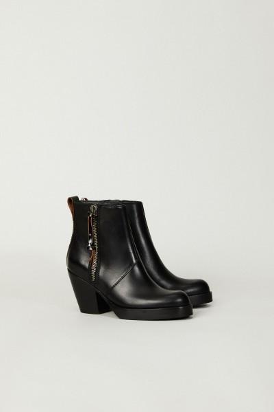 Boots mit Plateau-Sohle Schwarz