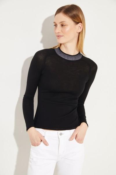 Woll-Pullover 'Pamela' Schwarz