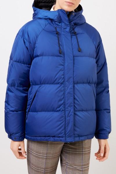 Aspesi Down jacket with hood Blue
