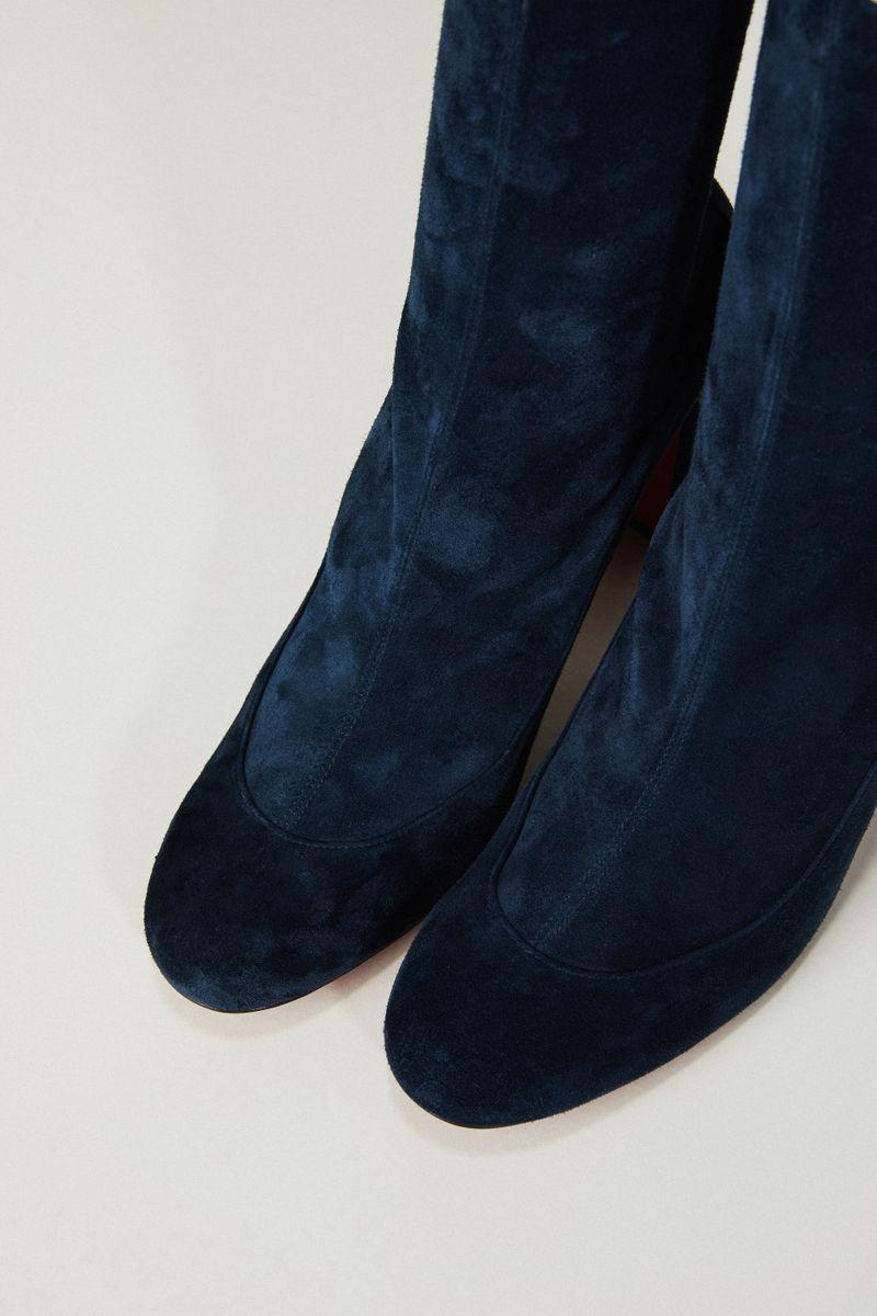 Veloursleder-Stiefelette 'Gena' Blau