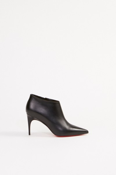 Christian Louboutin Leather ankle boot 'Gorgona' Black