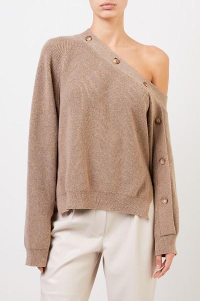 Nanushka One-Shoulder Pullover 'Camerin' Taupe