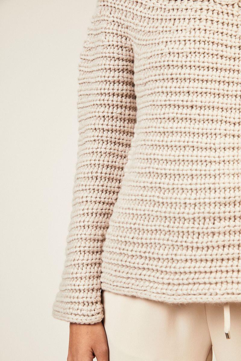 Handstrick Cashmere-Pullover 'Paraiso' Beige