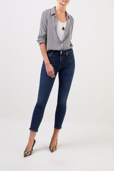 Citizens of Humanity Midrise Skinny-Jeans 'Rocket Crop' Blau