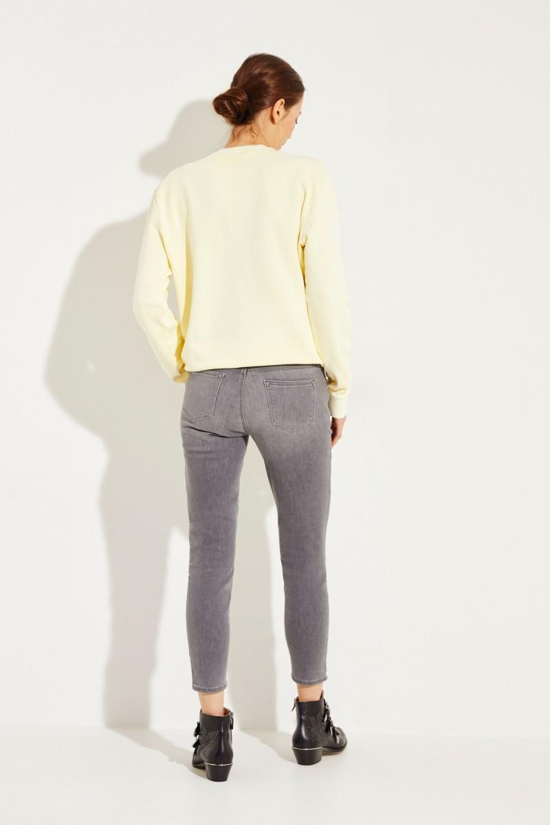 Jeans 'Midrise Cropped' Grau