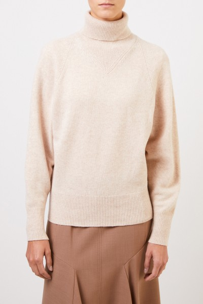 Joseph Wool Pullover with Turtleneck Beige
