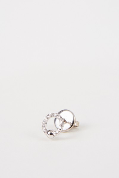 Earring 'Two in one' with diamonds White Gold