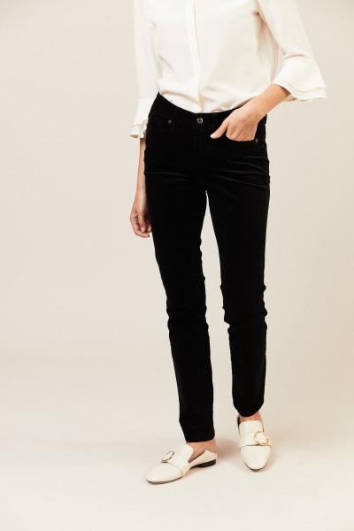 Samt-Jeans 'Parla' Schwarz