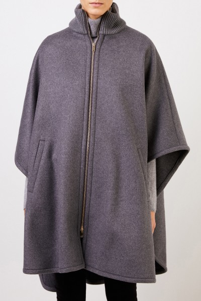 Stella McCartney Woll-Cape Grau Melange
