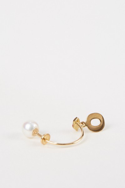 Delfina Delettrez Earring 'Micro Lips O' Yellow Gold