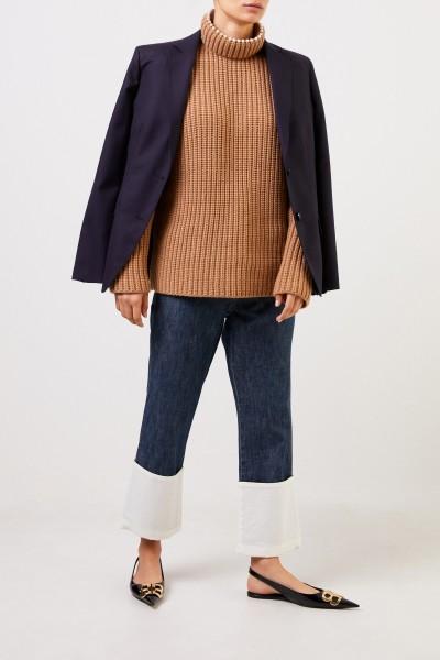 Loewe Cashmere-Pullover mit Perlenverzierung Camel