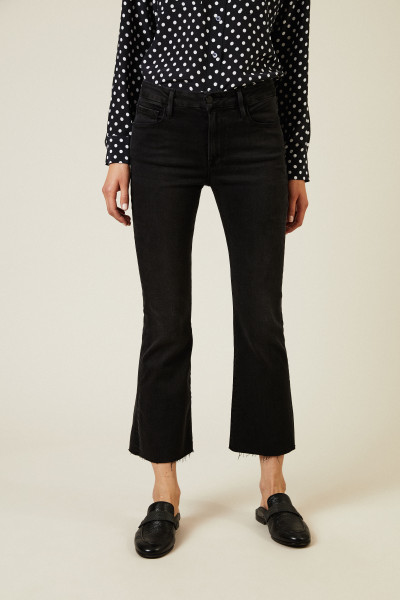 Skinny Jeans 'Le Crop Mini Boot' Schwarz