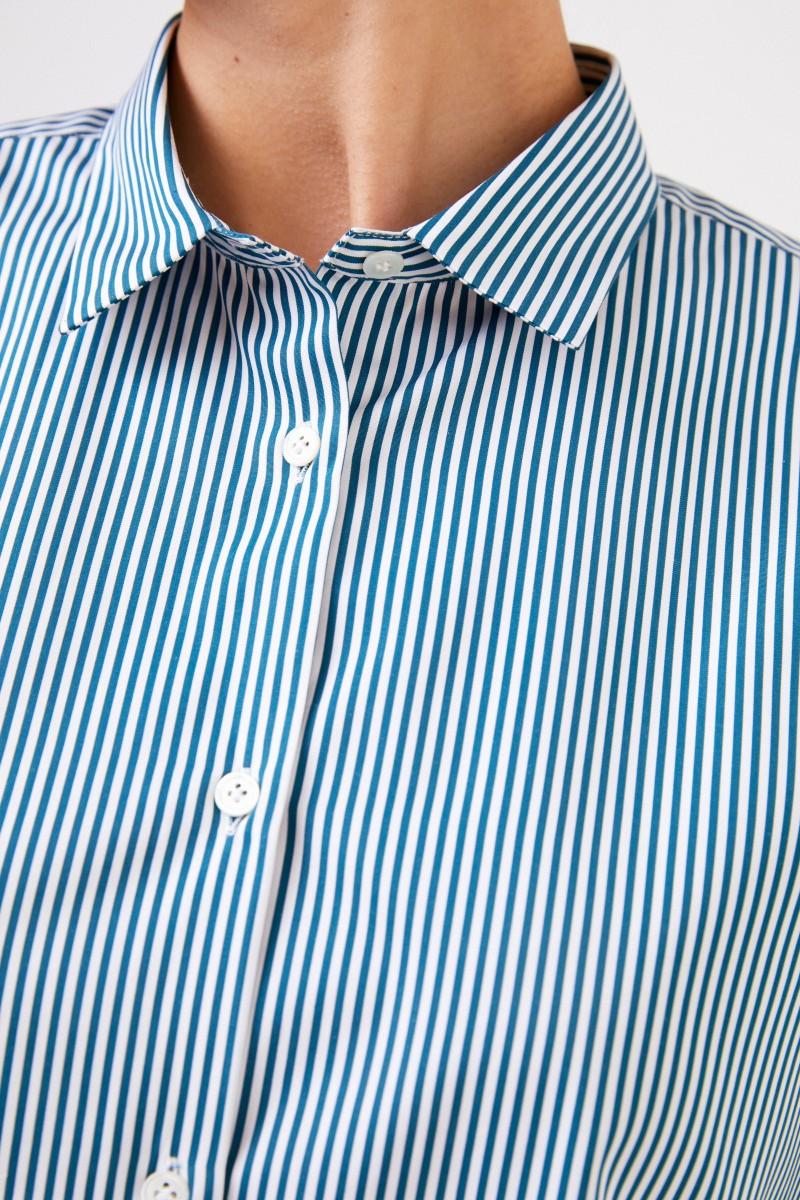 Robert Friedman Gestreifte Baumwoll-Bluse
