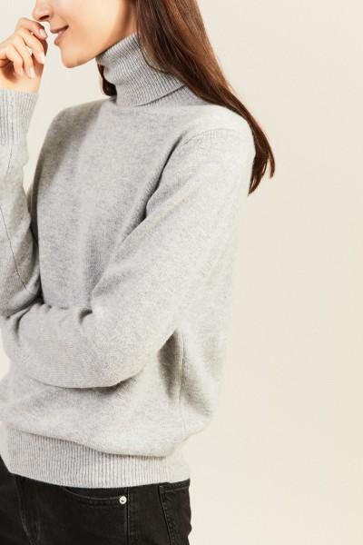 Cashmere-Rollkragenpullover Grau