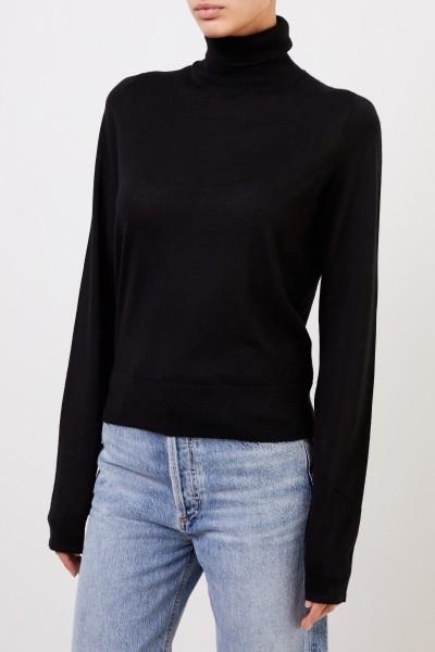 Feiner Cashmere-Pullover mit Turtleneck Schwarz