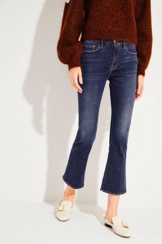 Jeans 'Crop Mini Boot' Blau