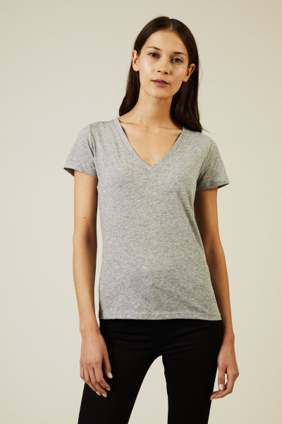 Baumwoll-Shirt Hellgrau