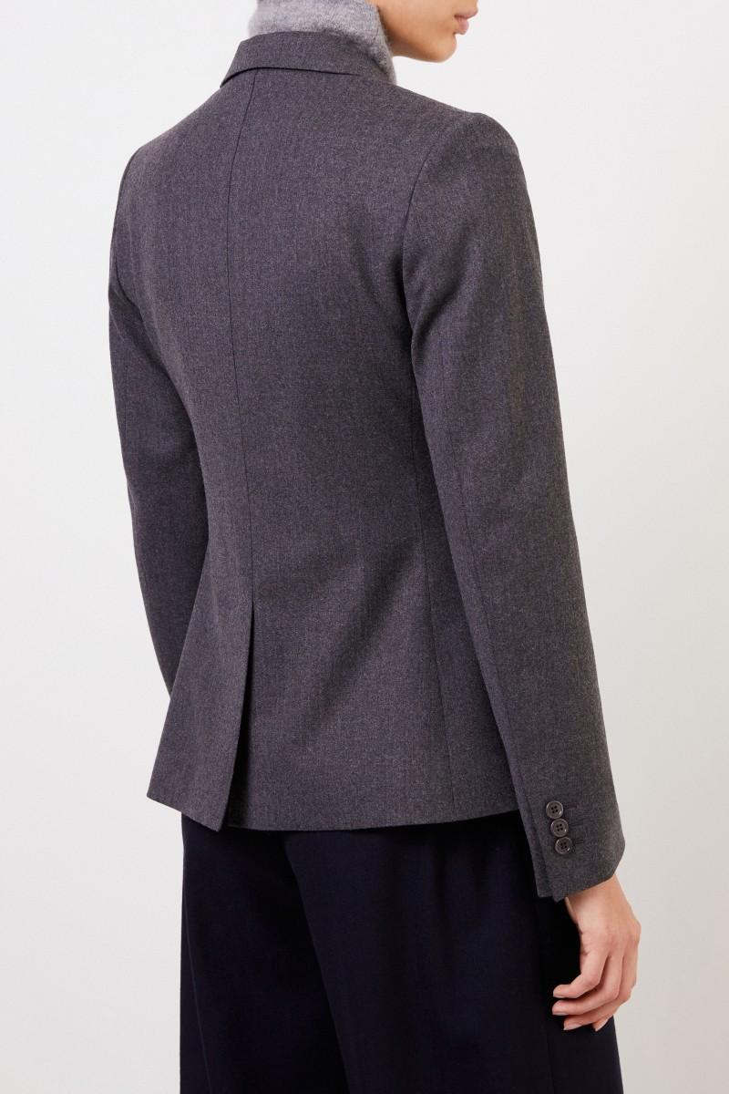 Klassischer-Woll Blazer Grau