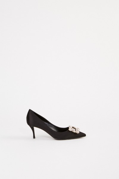 Roger Vivier Pumps with Decorated Buckle Black