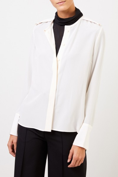 Stella McCartney Silk blouse with applications White